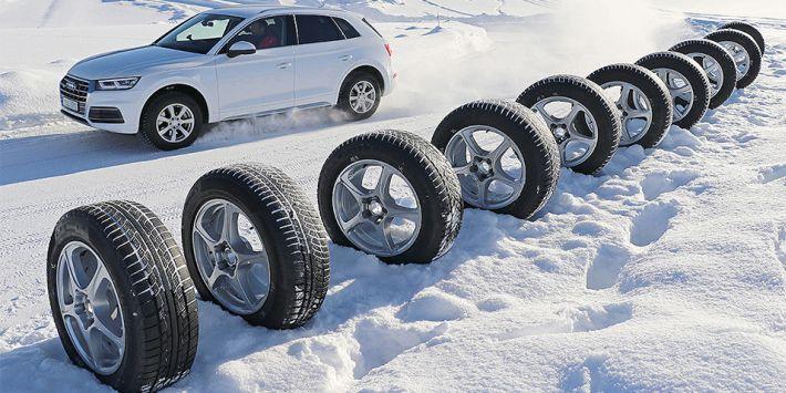 Auto Bild a testé et comparé 10 pneus hiver pour SUV dans son dernier essai de pneus 2018