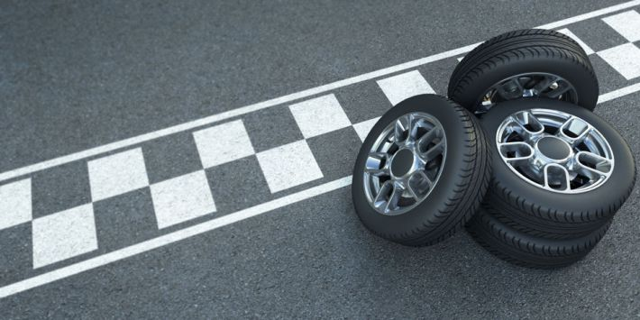 Pneus et sport automobile