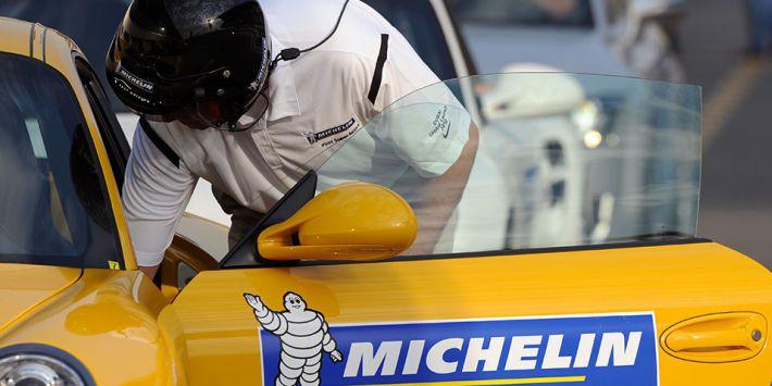 Test de pneus Michelin sur circuit