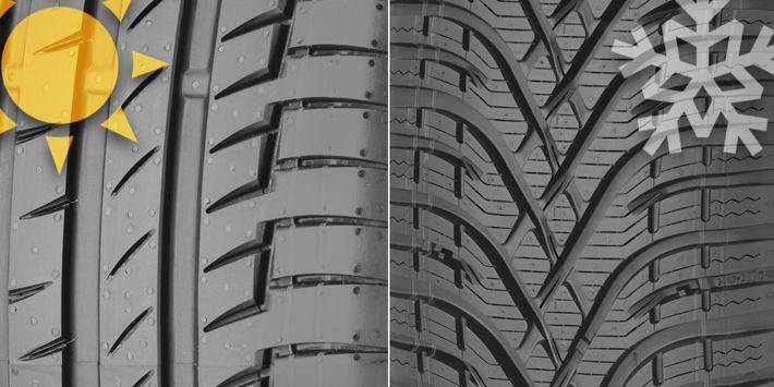 Différence pneus hiver été