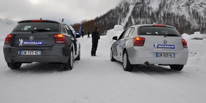 Test sur neige par Michelin : Pneus été vs pneus hiver