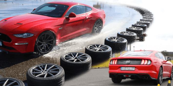 Test pneus été sportifs Auto Bild Mustang