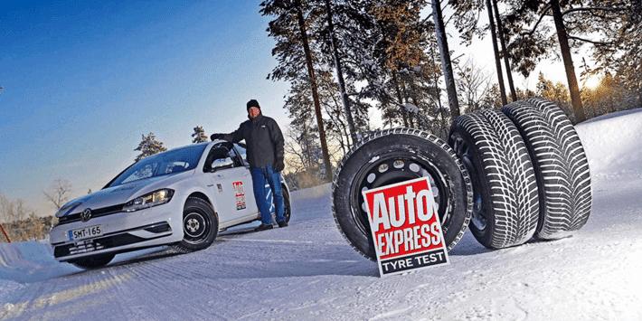 Test pneus hiver : Auto Express fait un comparatif de pneus sur la VW Golf